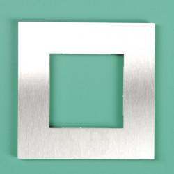 250-76100 Pure Edelstahl auf Weiß 1-fach