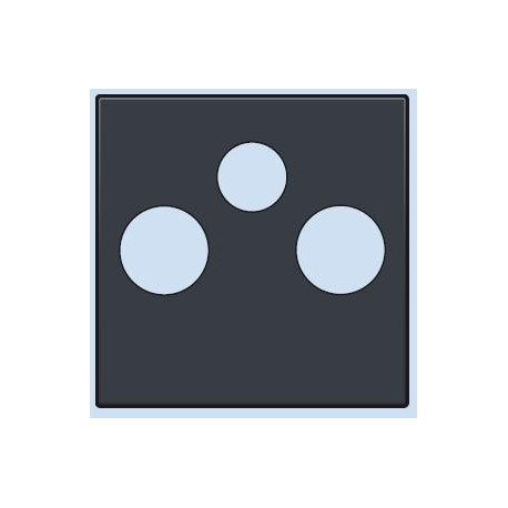 122-69551 Komplettierungsset TV-Radio-Satellit Anschluss Anthrazit