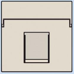 100-65100 Komplettierungsset mit nicht-transparenten Textfeld 1/2xRJ45 UTP Flachauslass Creme