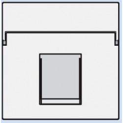 101-65100 Komplettierungsset mit nicht-transparenten Textfeld 1/2xRJ45 UTP Flachauslass Reinweiß