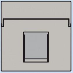 102-65100 Komplettierungsset mit nicht-transparenten Textfeld 1/2xRJ45 UTP Flachauslass Hellgrau