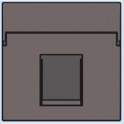 104-65100 Komplettierungsset mit nicht-transparenten Textfeld 1/2xRJ45 UTP Flachauslass Greige