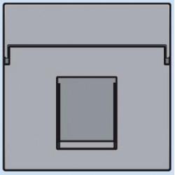 121-65100 Komplettierungsset mit nicht-transparenten Textfeld 1/2xRJ45 UTP Flachauslass Sterling