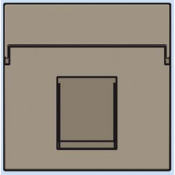 123-65100 Komplettierungsset mit nicht-transparenten Textfeld 1/2xRJ45 UTP Flachauslass Bronze