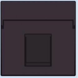 124-65100 Komplettierungsset mit nicht-transparenten Textfeld 1/2xRJ45 UTP Flachauslass Dunkelbraun