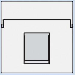 154-65100 Komplettierungsset mit nicht-transparenten Textfeld 1/2xRJ45 UTP Flachauslass Weiß