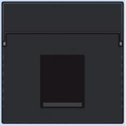 161-65100 Komplettierungsset mit nicht-transparenten Textfeld 1/2xRJ45 UTP Flachauslass Schwarz