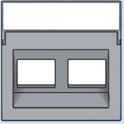 121-65400 Komplettierungsset mit transparentem Textfeld 1/2xRJ45 UTP Schrägauslass Sterling