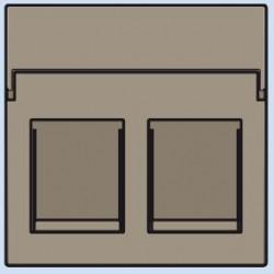 123-65200 Komplettierungsset mit nicht-transparenten Textfeld 2xRJ45 UTP Flachauslass Bronze