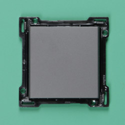 123-00029 Wippe 1-fach für Bustaster mit LED, mit Textfeld, Bronze