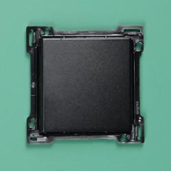 161-00036 Wippe 2-fach für Bustaster mit LED, bedruckt mit 'auf' und 'ab', Schwarz