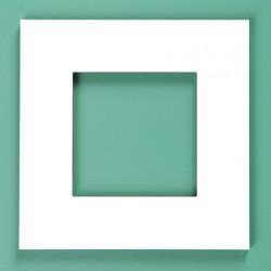 154-76100 Pure Weiß Stahl 1-fach
