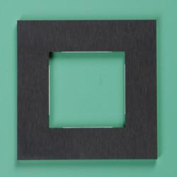 158-76800 Pure Alu-Schwarz 2-fach