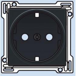 161-66901 Steckdose mit Schutzkontakt und Kindersicherung Kompletierungsset Schwarz